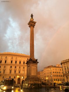 Rainbow in Rome, 07:36 am, 1st February 2015.