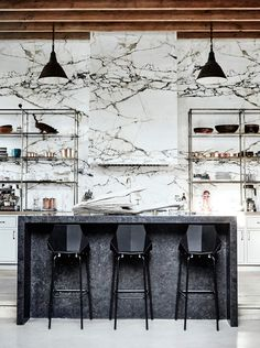 "Modern Kitchen Interior 2018 Design Trends: Kitchen - Last week we pulled together some of our favorite ""trends"" for the bathroom and today we've moved into the kitchen. We are putting ""trends"" in quotes as although we see a lot of these styles being big"