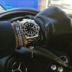 Atolyestone bracelet, Rolex watch, Mercedes car. Great combo. Shop online at www.AtolyeStone.com