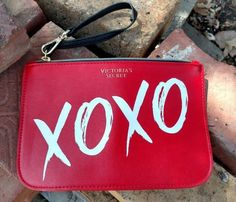 dbf7a64b759 Victorias Secret Red Pouch Wristlet Purse XOXO