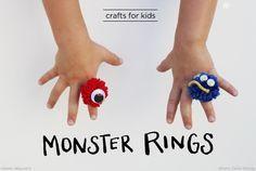 Craft for Kids - monster rings