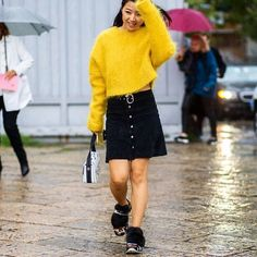 It's rainy in Milan but @thestyleograph found this ray of #MFW sunshine  Check out the link in our bio for more! by whowhatwear