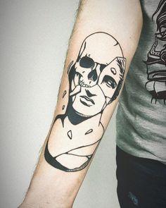 """🎨 M U S T A F A  O D A B A Ş I on Instagram: """"#bust#busttattoo#tattoo#tattoos#blackwork#blacktattoo#armtattoo"""" Word Tattoos, Tattos, Blackwork, Bar, Instagram, Tatuajes, Tattoos"""