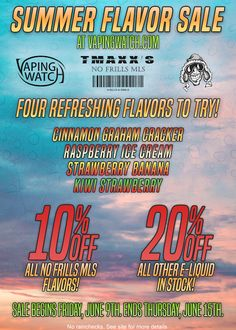 Vapor Joes - Daily Vaping Deals: SUMMER SALE: TMAXX NO FRILL MILLS EJUICE - 120ML I...