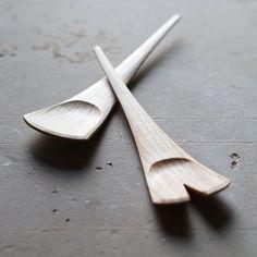 Something for the salad. Axe hewn, knife finished. __________ #woodenspoon #spoon #sloyd #slojd #realcraft #skills #wood #woodwork #woodcraft #kitchenware #foodie #woodworking #woodcarving #woodculture #carving #craft #handmade #handcraft #handcarved #cooking #cuisine #kitchen #artisan #tableware #design #minimal #designer #art #artisan #craftsman #homedecor