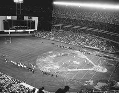 Jets game at Shea Sports Stadium, Sports Baseball, Joe Namath, Shea Stadium, Houston Oilers, American Football League, Field Of Dreams, San Diego Chargers, Football Stadiums