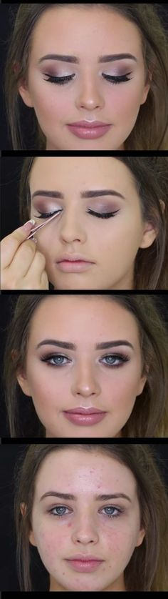 Wedding Makeup Ideas for Brides - Bridal Inspired Makeup Tutorial - Romantic make up ideas for the wedding - Natural and Airbrush techniques that look great with blue, green and brown eyes - rusti evening glow looks - https://www.thegoddess.com/wedding-makeup-for-brides #naturalmakeuptutorial
