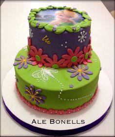 #tinkerbell Fairy cake  para un cumpleaños infantil muy femenino y lleno de sueños. #tortadecorada