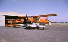 I like colourful aircraft; I'm not a great fan of air superiority grey. Below is a nice shot taken at Point Cook of the Australian Antarctic Flight Beaver A95-201 and Auster A11-201.