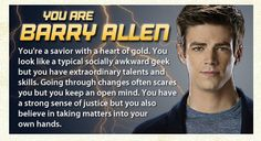 Which 'The Flash' Character Are You? - BuddyTV I GOT THE FLASH!!!!!!