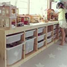 キッズスペース/おもちゃ収納/すっきりさせたい/収納/収納の見直し/和室…などのインテリア実例 - 2017-08-02 15:19:15 | RoomClip(ルームクリップ)