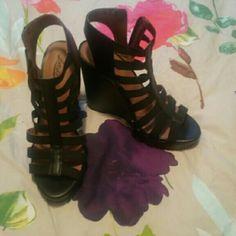 Heels Never worn wedge heels/ excellent condition Shoes Wedges