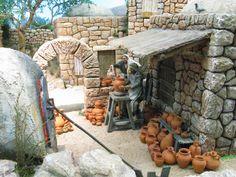 Diy Nativity, Christmas Nativity Scene, Christmas Villages, Vitrine Miniature, Miniature Houses, Medieval Houses, Miniature Furniture, Fairy Houses, Model Homes