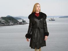 Higgs Leathers  {NEW!}  Uniqua (ladies Black Toscana Shearling coats)  (1391)