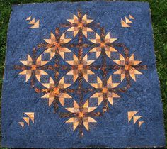 mexican star quilt pattern | Piece N Quilt: Mexican Star {Machine Quilting}