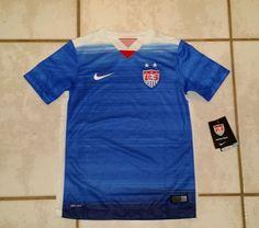 cf5948eb243 NWT Authentic NIKE USA National Team 2015 Soccer Jersey Boys Small   eBay.  Sports Jerseys Treasures · EBay · ADIDAS Mexico ...