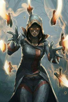 Sylmara - Elven rogue mage with control of flying swords