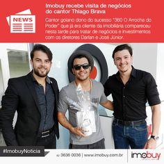 O cantor Thiago Brava compareceu na tarde desta terça na sede da Imobuy para expandir seus investimentos junto com os diretores Darlan e Jose Júnior. #ImobuyNoticia