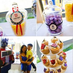 "Now I'm a ""girly girl"" (we're talking ribbons and pearls) but this is one COOL boy's birthday party! Transformers are all the. Transformers Birthday Parties, 4th Birthday Parties, Birthday Fun, Birthday Ideas, Rescue Bots Cake, Rescue Bots Birthday, Transformer Birthday, Party Themes For Boys, Candy Party"