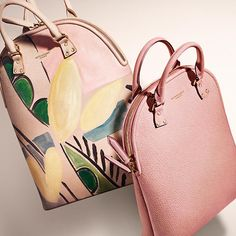 The Bloomsbury - the new runway bag from Burberry in grainy leather with hand-painted design