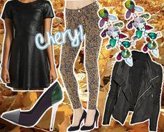 Fall Season's Craving:   Theory leather dress  J.Brand brocade jeans  ASOS jeweled earrings  Rick Owens biker jacket  Proenza Schouler cap toes