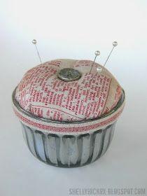 Stamptramp: Vintage Jelly Jar Pincushion + Eclectic Elements Inspiration!