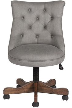 charcoal elsie upholstered office chair | charcoal, office spaces