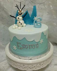 Torta di Frozen con decorazioni in pasta di zucchero n.72