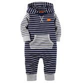 Carter's Striped Jumpsuit with Hood - Baby Boys Baby Outfits, Toddler Outfits, Kids Outfits, Fashion Kids, Baby Boy Fashion, Carters Baby Boys, Baby Boy Newborn, Newborn Care, Toddler Boys