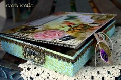 Beautiful altered cigar box by Eileen Terwilliger.