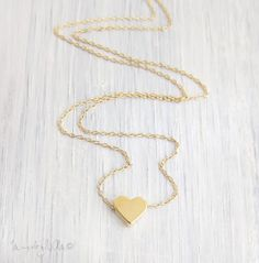Tiny Heart Necklace - Gold Heart Necklace, Dainty Gold Necklace, Delicate Necklace, Simple Jewelry, Small Heart Charm, Gift For Her on Etsy, 17,26 €