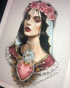 Lady of sorrow 💘 Girl Face Tattoo, Girl Face Drawing, Face Art, Sketch Tattoo Design, Tattoo Sketches, Tattoo Drawings, Dream Tattoos, Body Art Tattoos, Sleeve Tattoos