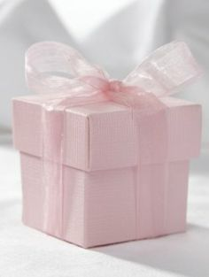 Pink Square Box and Lid