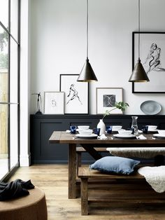 Home interior Design Videos Living Room Hanging Plants Link – Right here are the best pins around Coastal Home interior! Black And White Interior, White Interior Design, Interior Decorating, Black White, Monochrome Interior, Interior Styling, Black And White Dining Room, Interior Shop, Brown Interior