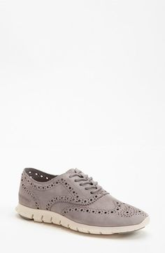 Cole Haan 'ZeroGrand' Perforated Wingtip (Women) (Nordstrom Exclusive) available at Me Too Shoes, Men's Shoes, Dress Shoes, Nike Shoes, Cole Hann Shoes, Comfortable Sneakers, Look Chic, Cole Haan, Oxfords