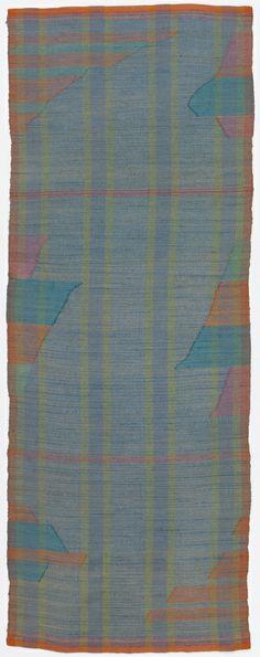 "Edith Huntington Snow | plain weave + inlay | silk | 48-7/16"" x 17-11/16"" | U.S.A. | c. 1928"