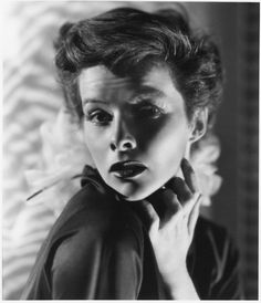 Katherine Hepburn oversize gallery portrait by Ernest A. Bachrach. Silver bromide matte double-weight 11 x 14 in. master print (ca. 1933). From the personal collection of the photographer.