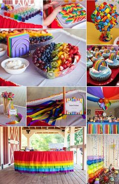 Get amazing coloured party ideas that go beyond rainbows. From sweet candy to balloons and confetti, there are more ways than one to incorporate rainbow colours in your party.