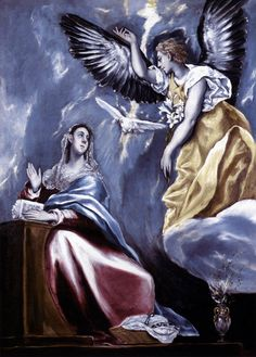 El Greco - The Annunciation fine art preproduction . Explore our collection of El Greco fine art prints, giclees, posters and hand crafted canvas products Google Art Project, Museum Of Fine Arts, Art Museum, Feast Of The Annunciation, Renaissance Kunst, Kunsthistorisches Museum, Archangel Gabriel, Spanish Artists, Spanish Painters