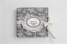 Wedding Guest Book Gray Wedding Album Gray with Silver