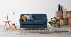 Asger 2 Seater Sofa, Harbour Blue | MADE.com
