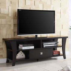 Coaster Furniture Brown Open TV Console with 1 Drawer - 700497 #coasterfurnituredrawers #coasterfurniturehome
