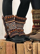Women's Boot Sweaters   Sahalie - something new to knit for Christmas! (Note that this isn't actually a knitting pattern, but it would be pretty easy to adapt a boot cuff or legwarmer pattern.)