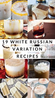 19 White Russian variation recipes - Mood and Health - South African Menu - Holiday Drinks, Fun Drinks, Yummy Drinks, Holiday Recipes, Beverages, Mixed Drinks, Delicious Desserts, Alcoholic Drinks, White Russian Recipes