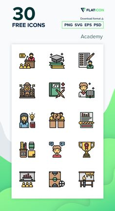 30 Academy icons for personal and commercial use. Surang Lineal Color icons. Download now free icon pack from Flaticon, the largest database of free vector icons. #Flaticon #icons #teacher #education #school #college #academy