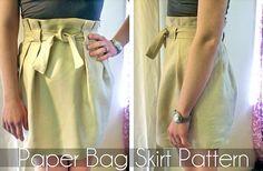 Super cute paper bag skirt