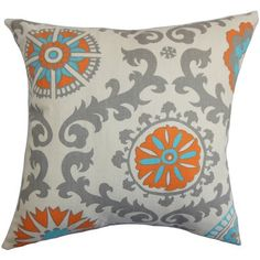 Kaula Geometric Pillow Feather Filled Throw Pillow (Size), Orange, The Pillow Collection(Cotton) – Floor Pillow Geometric Bedding, Geometric Throws, Geometric Patterns, Outdoor Throw Pillows, Decorative Throw Pillows, Colorful Pillows, Floor Pillows, Accent Pillows, Orange Gris