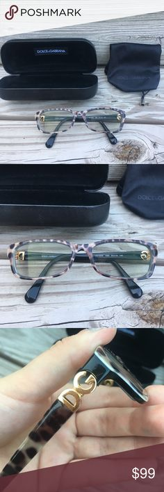 """Dolce & Gabbana Prescription Glasses * in great condition  * tortoise shell prescription glasses * comes with plastic case & cloth case * not sure of prescription, you can change it no problem though  ❌ NO TRADES ❌ ✨ AUTHENTIC ✨ 🌀 MAKE OFFERS 🌀  *** If you see more than one item you like, click on the """"add to bundle"""" option & give me an offer! I make amazing bundle deals! 💥 Dolce & Gabbana Accessories Glasses"""