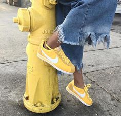 Yellow shoes are considered as most trendy thing in today's era? yellow shoes who likes the nike cortez shoes ?