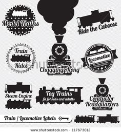 Find Vector Set Train Locomotive Labels Icons stock images in HD and millions of other royalty-free stock photos, illustrations and vectors in the Shutterstock collection. Fish Silhouette, Silhouette Vector, Zug Illustration, Illustrations, Free Vector Images, Vector Free, Beach Icon, Train Art, Royalty